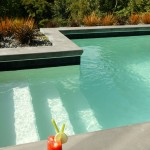 Easy access steps to pool